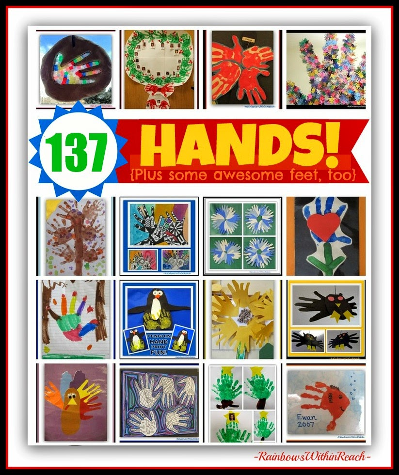 137 Hand Print Projects UPdated RoundUP at RainbowsWithinReach