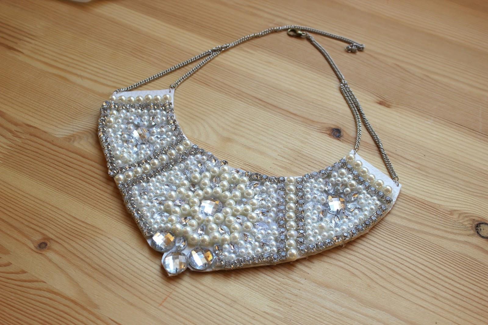 Diy collar de perlas y piedras swarovski handbox craft - Piedras para collares ...