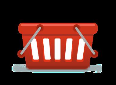 Shopping icon for website design