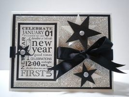 i wish you a new year filled with faith family and love my last share for 2011 is a new years eve card made the stampin up