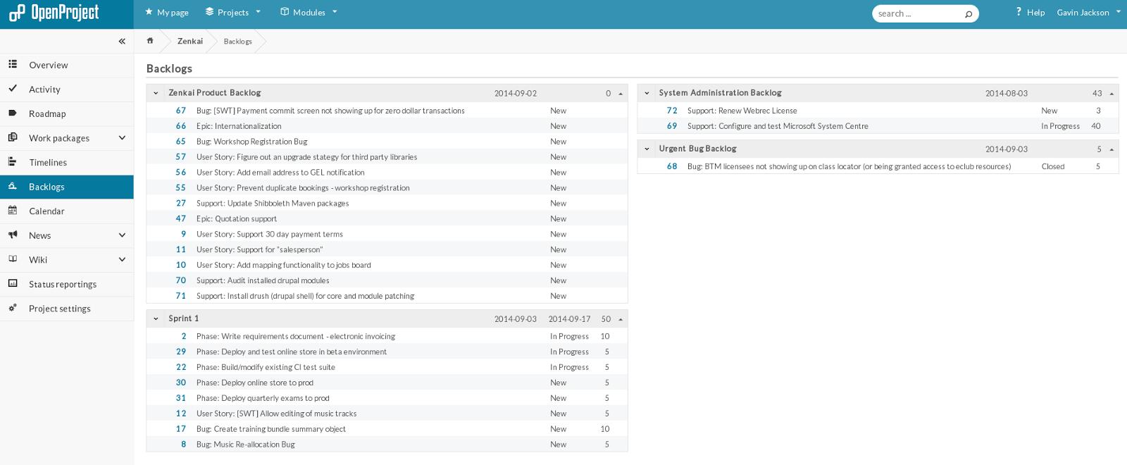 Openproject scrum plugin gavinj backlogs view nvjuhfo Images