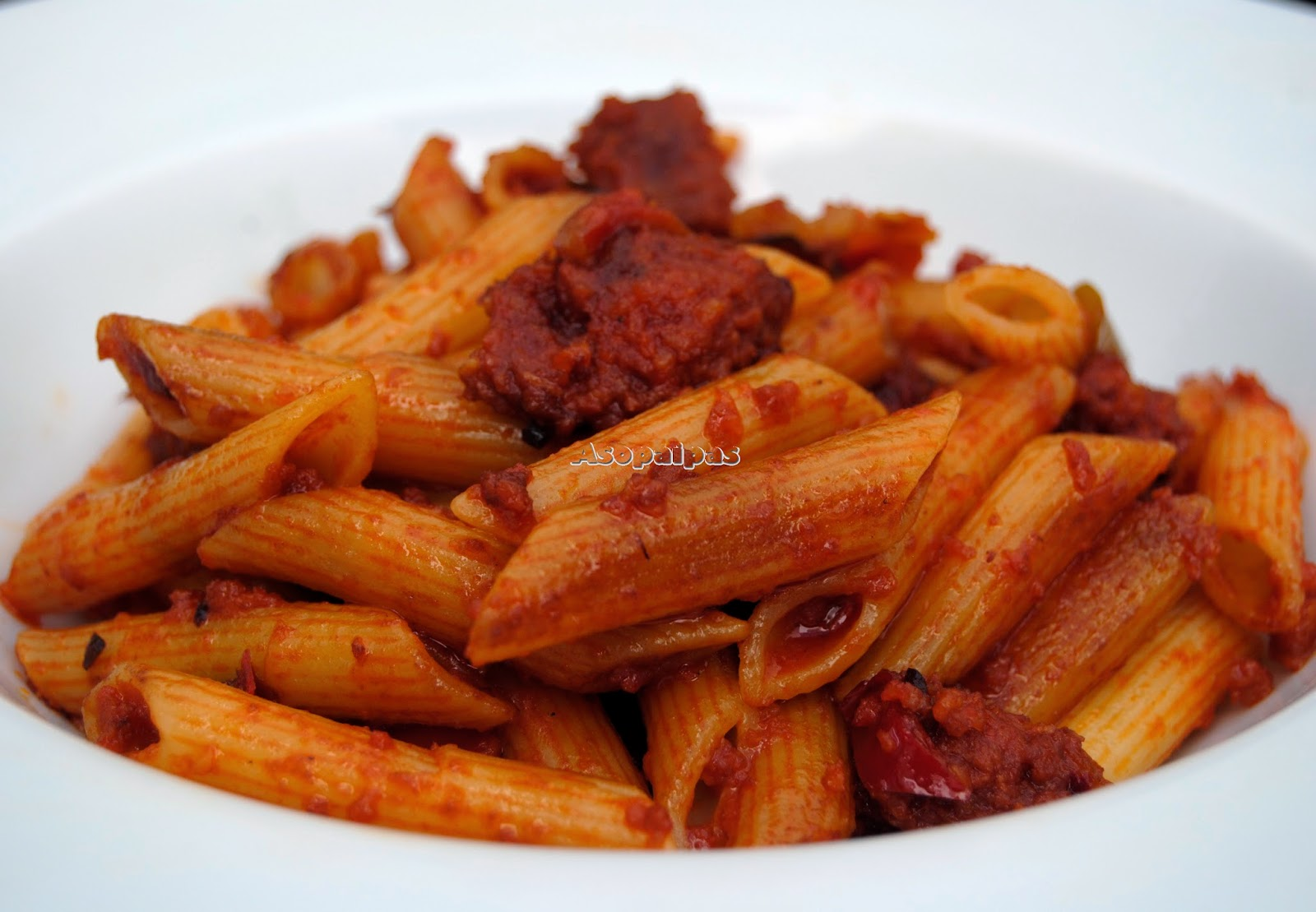 Macarrones con sobrasada receta asopaipas recetas de for Recetas cocina casera