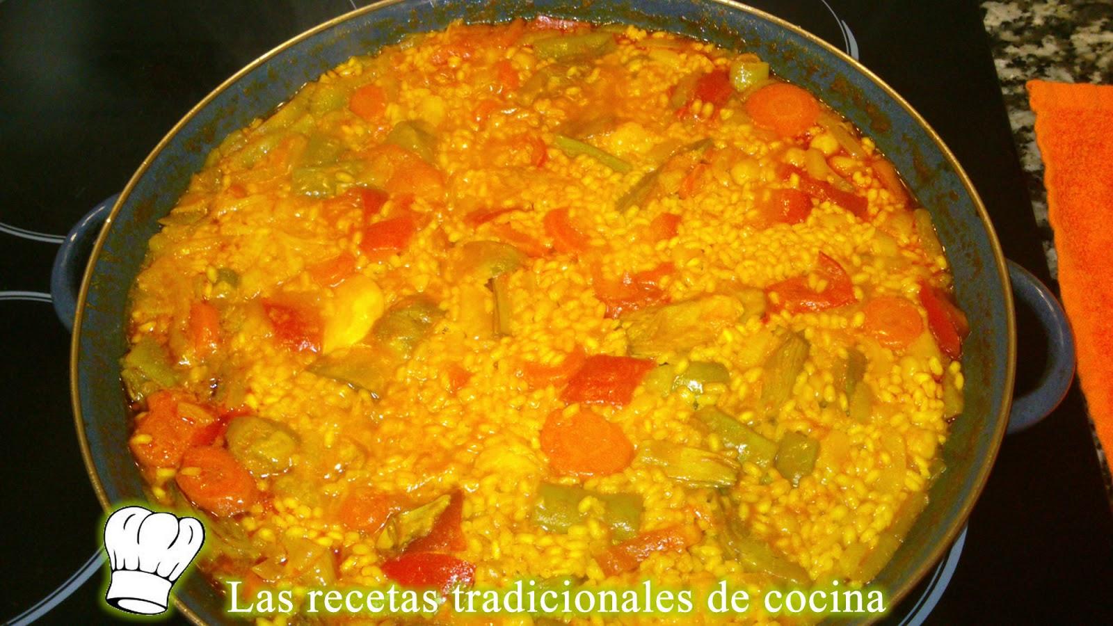 Receta de paella de verduras recetas de cocina con sabor for Como hacer paella de verduras