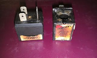 Сгоревшие катушки CAMOZZI клапанов выброса и подачи