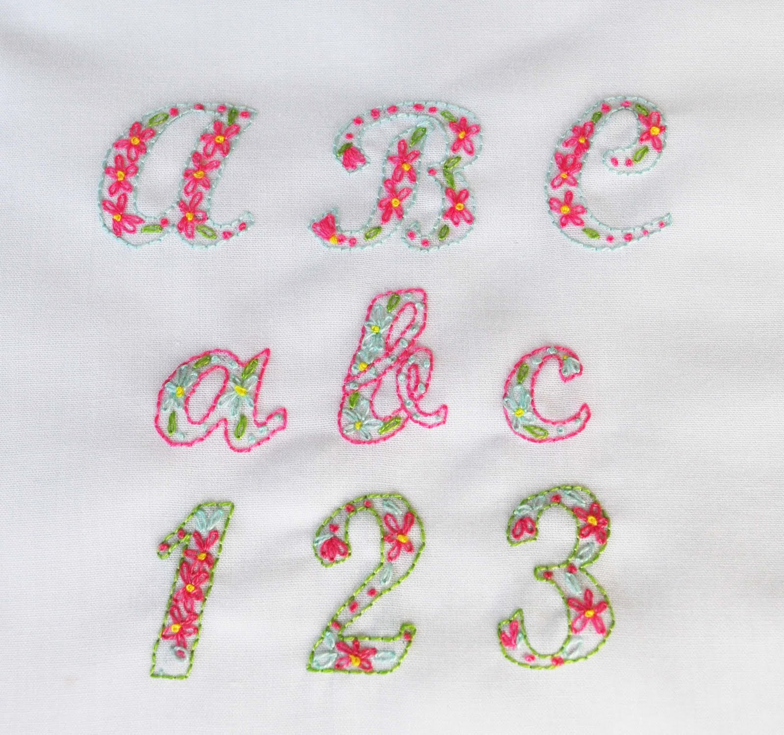 The handmade dress hand embroidered alphabet for Embroidered alphabet letters