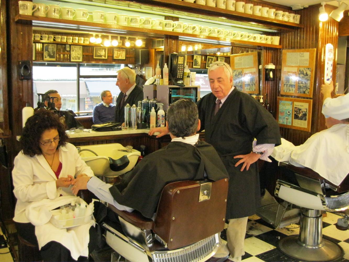 Mitch Broder's Vintage New York: Paul Molé Barber Shop: Does It Still ...