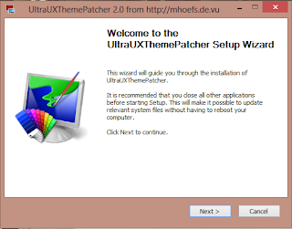 UltraUXThemePatcher setup window