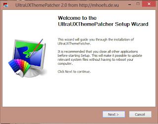 UltraUXThemePatcher setup window