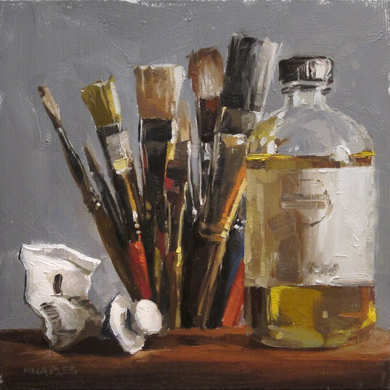 Michael naples the artist 39 s tools for Materials for canvas painting