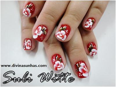 unhas decoradas carga dupla flores e botoes by suli witte8