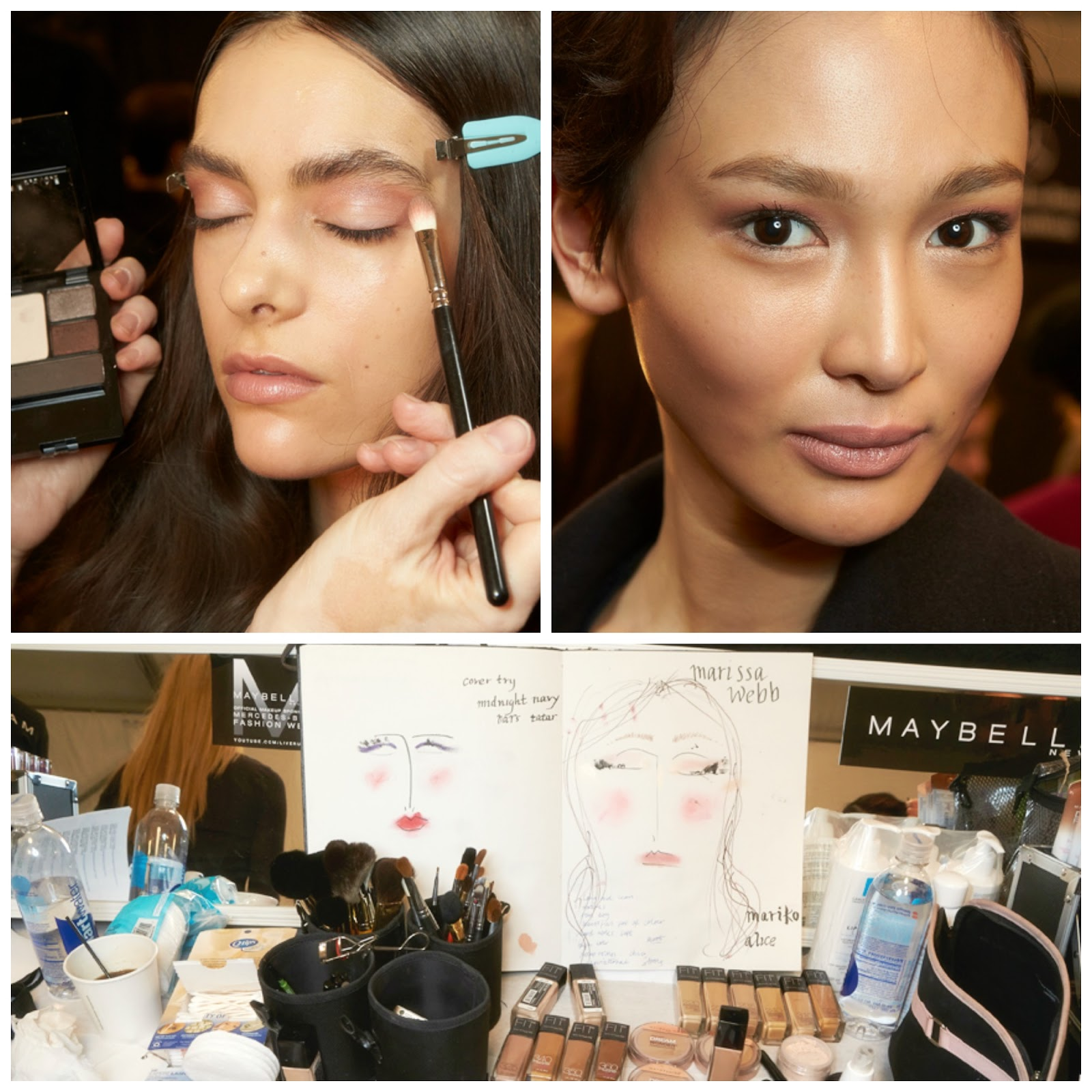 NYFW backstage makeup for Marissa Webb, Maybelline
