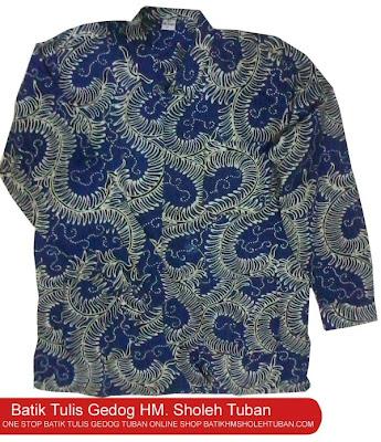Motif ganggeng batik gedog Tuban, Motif khas batik gedog Tuban, Motif batik Tuban.