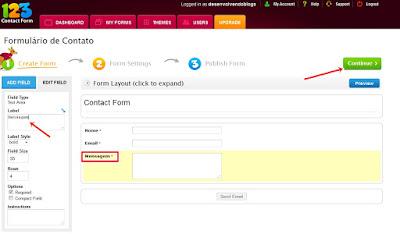 personalizando o formulário