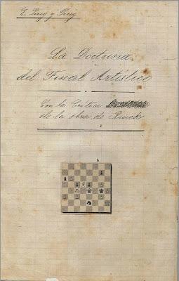 """Portada del manuscrito inicial del libro """"La doctrina del Final Artístico"""" de Esteve Puig y Puig"""