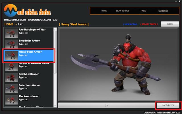 [Mod Dota] Heavy Steel Armor