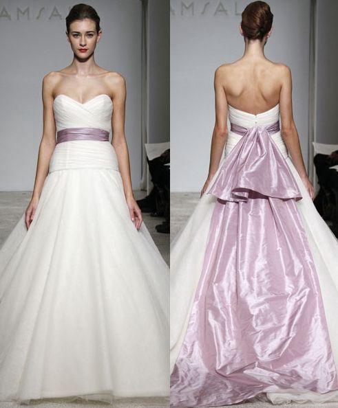 Pastel Purple Sash ~ WEDDING DRESS