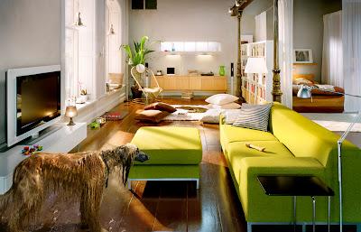 sala simples decorada