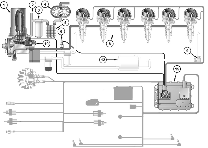 Diesel Engines Diesel Engine Also Known as well 5alfk M11 Temperature Light  ing Cant in addition Cat C7 Belt Diagram further 3116 Caterpillar Fuel Priming Pump in addition Cat C15 Fuel System Schematic. on cat c7 fuel system diagram