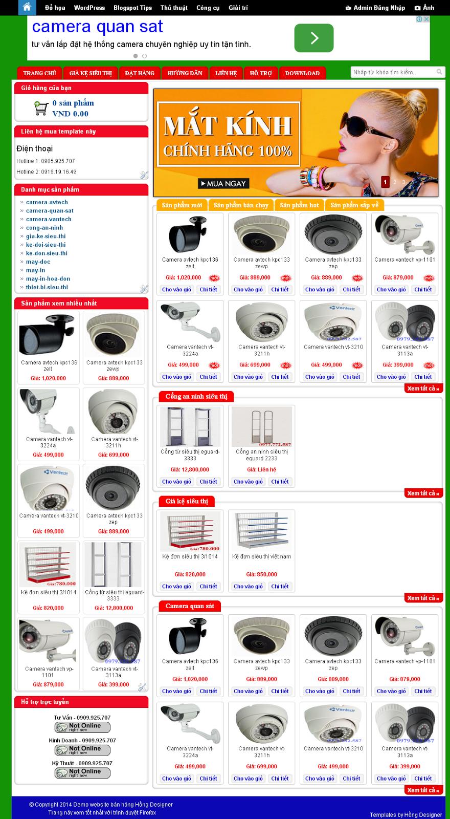 Template blog bán hàng chuẩn SEO đẹp