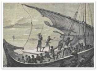 La transat c'est aussi l'esclavage et le commerce triangulaire...