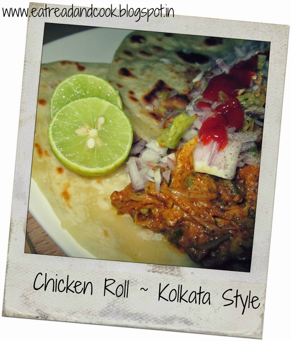 how to cook Kolkata style chicken roll