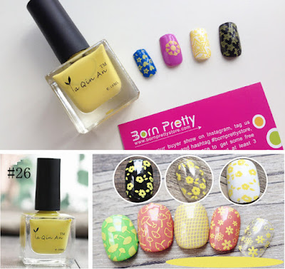 Born Pretty Stamping Polish ya qin an 18 ml  yellow #26