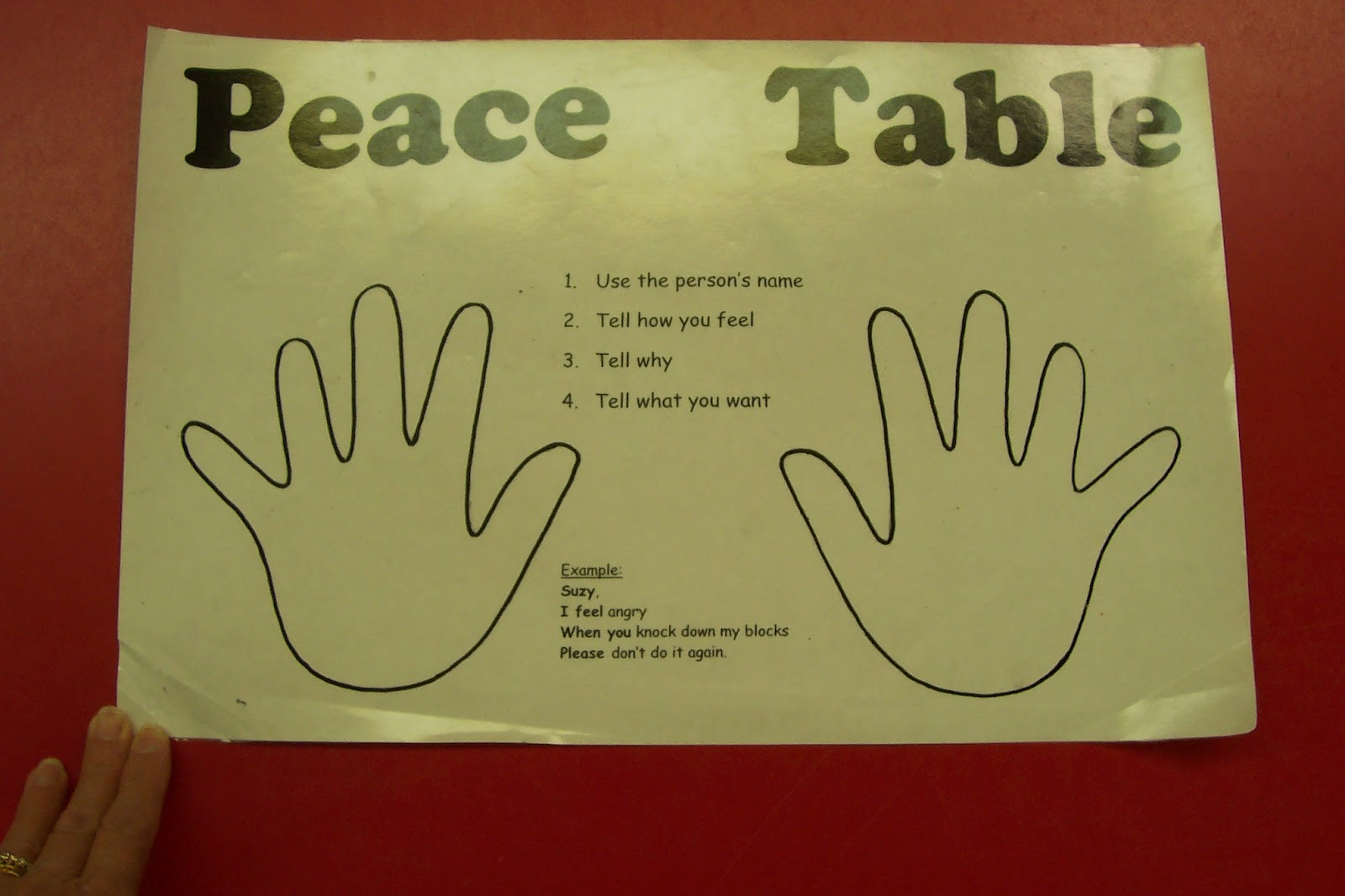 Peace Table_4 on Math Activities For First Grade 2