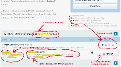 Cara Download Formulir VerVal NUPTK 2013 -2