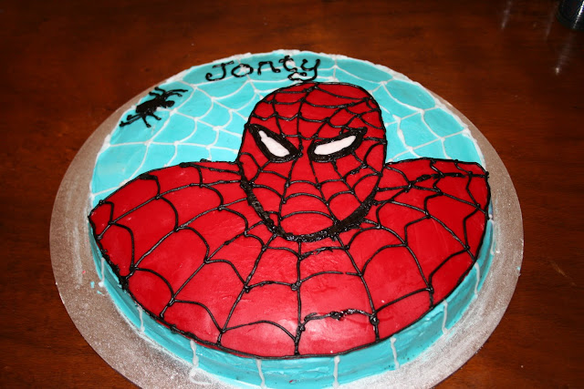 Spiderman birthday cake for boys