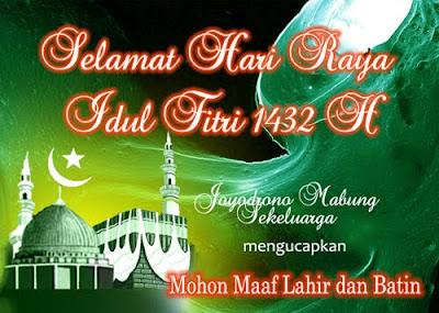 Selamat Hari Raya Idul Fitri | joyodrono mabung
