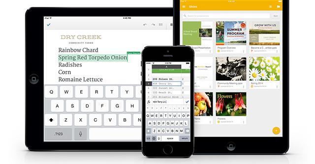 Google đẩy mạnh ứng dụng Office trên iPhone/iPad