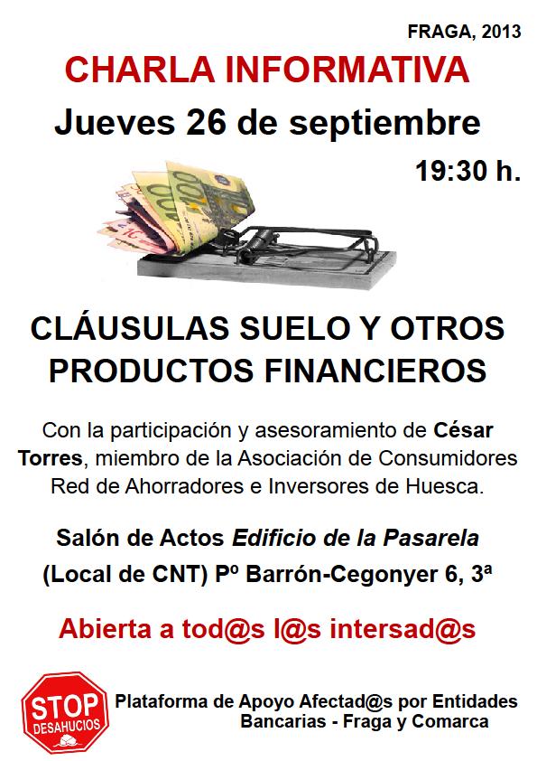 Bajo cinca libertario septiembre 2013 for Clausula suelo tarragona