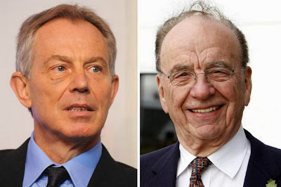 Former PM Tony Blair and media mogul Rupert Murdoch