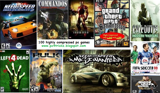 Highly compressed pc games free download under 10mb