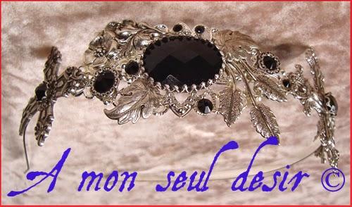 Serre tête gothique gothic goth headdress headband black