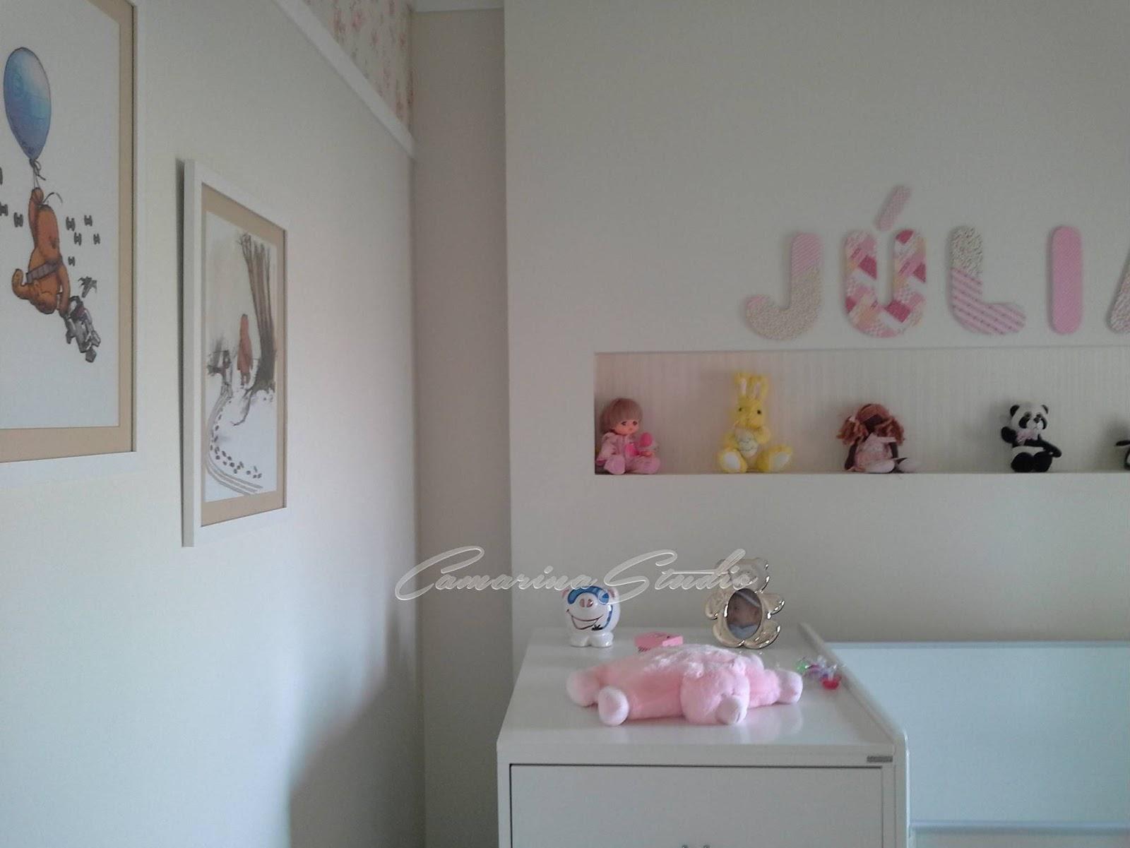 Camarina Studio Design De Interiores Por Rica Marina Ribeir O  ~ Quarto Cinza Feminino Com Nichos Quarto De Menina