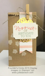 Stampin' Up! Birthday Blooms Card: 2016 Occasions Catalog Sneak Peek #stampinup www.juliedavison.com
