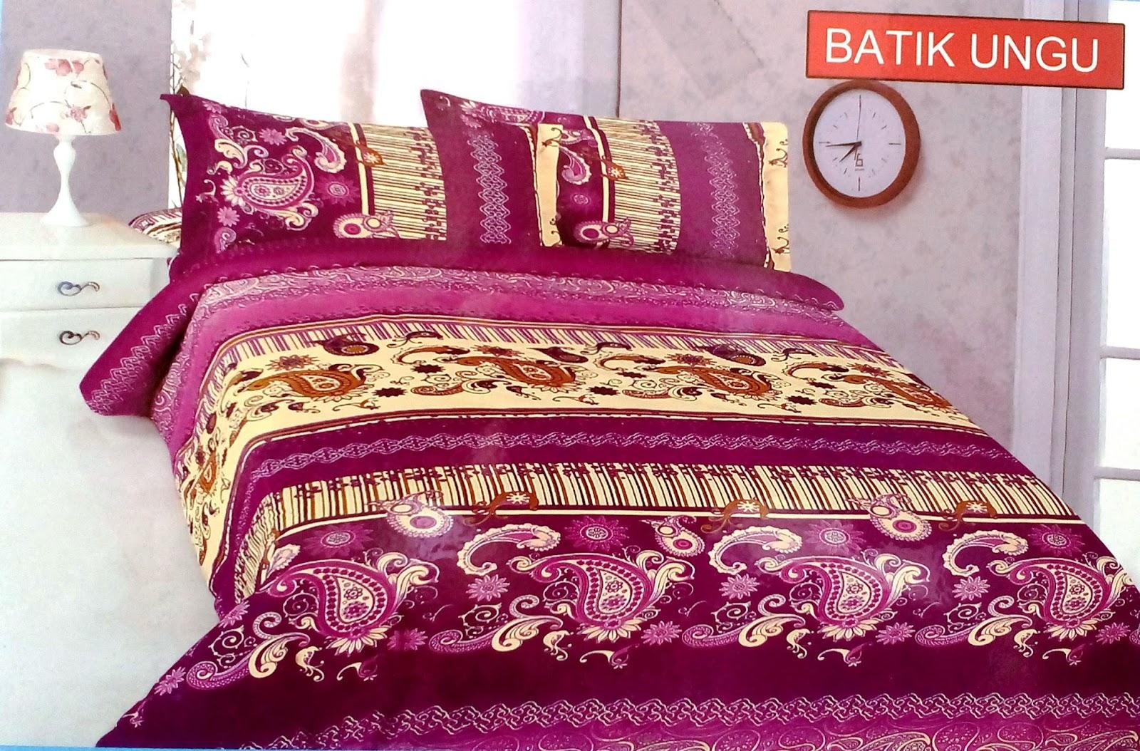 Sprei Bonita 180 - Batik Ungu