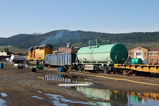 Freight train chemical spill
