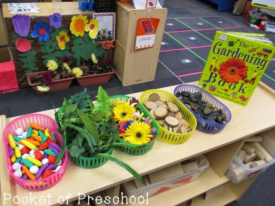 garden theme for preschool farm math and literacy centers freebies pocket of 560