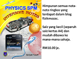Jom ORDER Buku 'Physics Intensive Notes'
