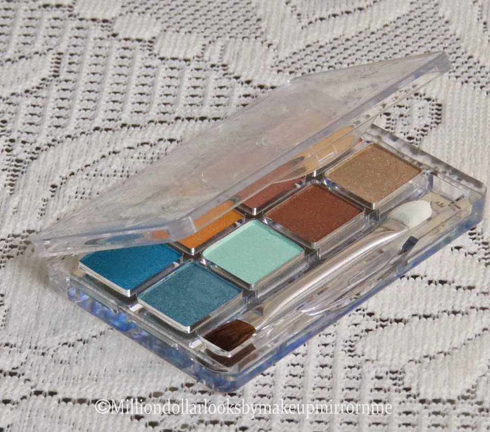 Essence cosmetics europe, Essence cosmetics in India, Sun club glamour to go eyeshadow palette 09 south beach swatches, indian makeup blog, indian beauty blog