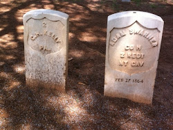The first 2 graves at Andersonville