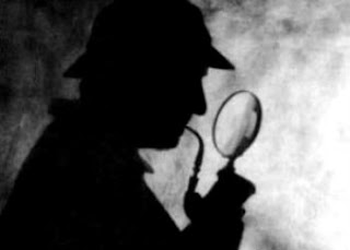 Sherlock holmes magnifying glass lupa basil rathbone shadow sombra