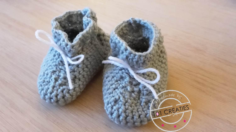 Haken Eenvoudige Babyslofjes 101 Creaties