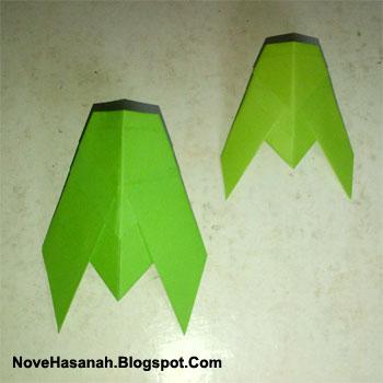 cara melipat kertas untuk membuat origami serangga tonggeret atau cicada yang unik