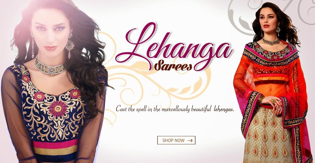 Designer Lehengas Sarees Online