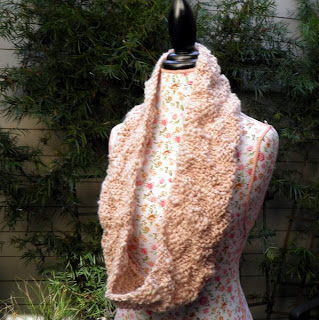 Rustic Tweed Knit Cowl Pattern