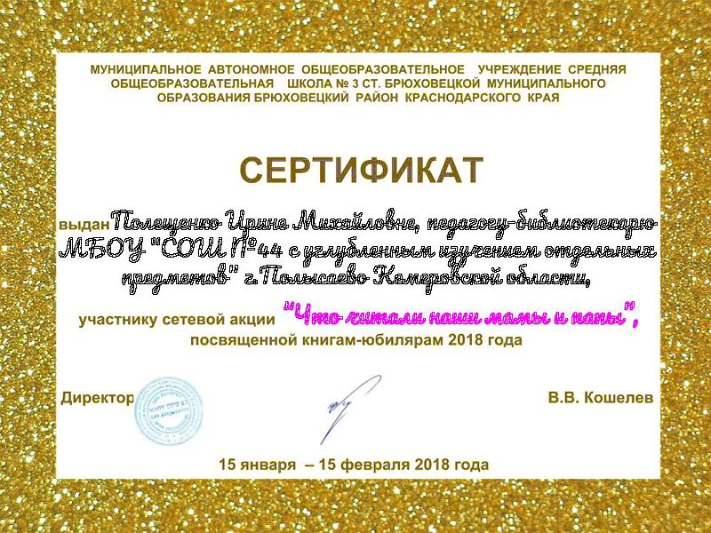 СЕРТИФИКАТ ВИКИ-СИБИРИАДЫ