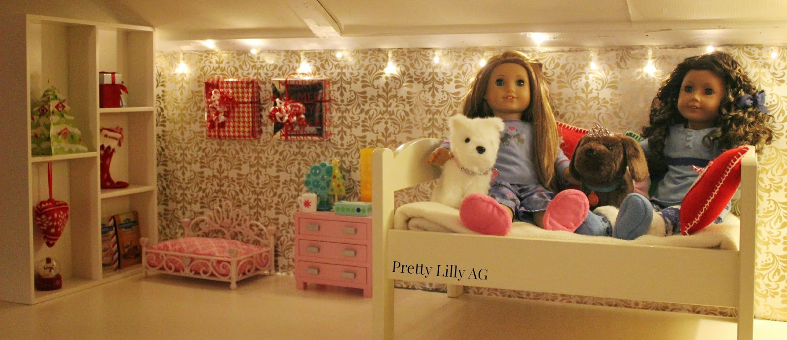 Christmas Doll Bedroom Decorations. Pretty Lilly an American Girl  Christmas Doll Bedroom Decorations